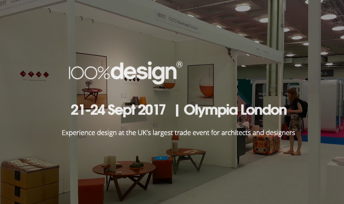 100%design. Olympia Londres Septembre 2017